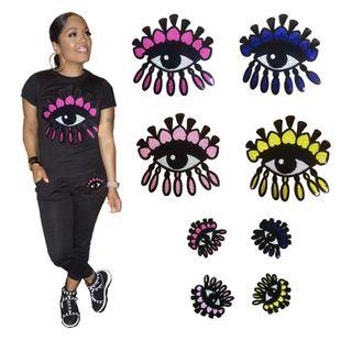 Sequins, love eyes, heart, eyeballs, cloth stickers NHLT148351's discount tags