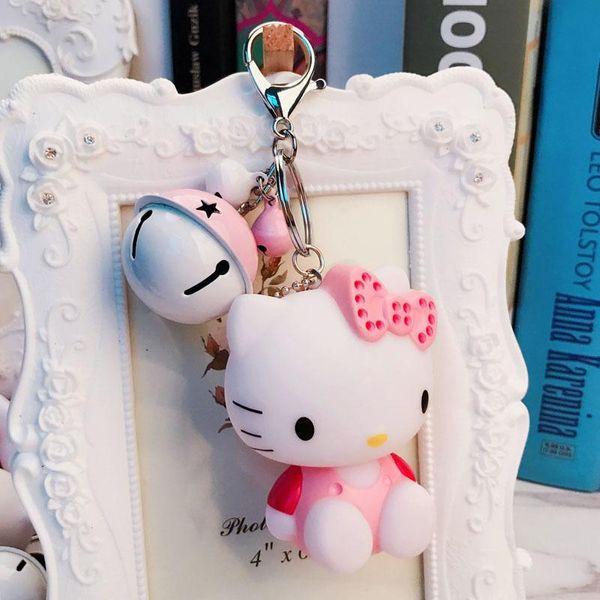 Cartoon cute kitten doll cute hit color bell key chain NHBM148361