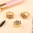 New evil s eye copper inlaid zircon rainbow ring NHAS148112