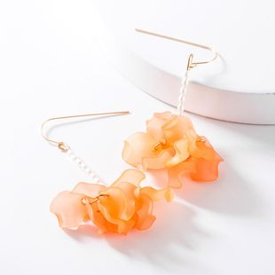 Fashion resin flower beads earrings NHJE148445's discount tags