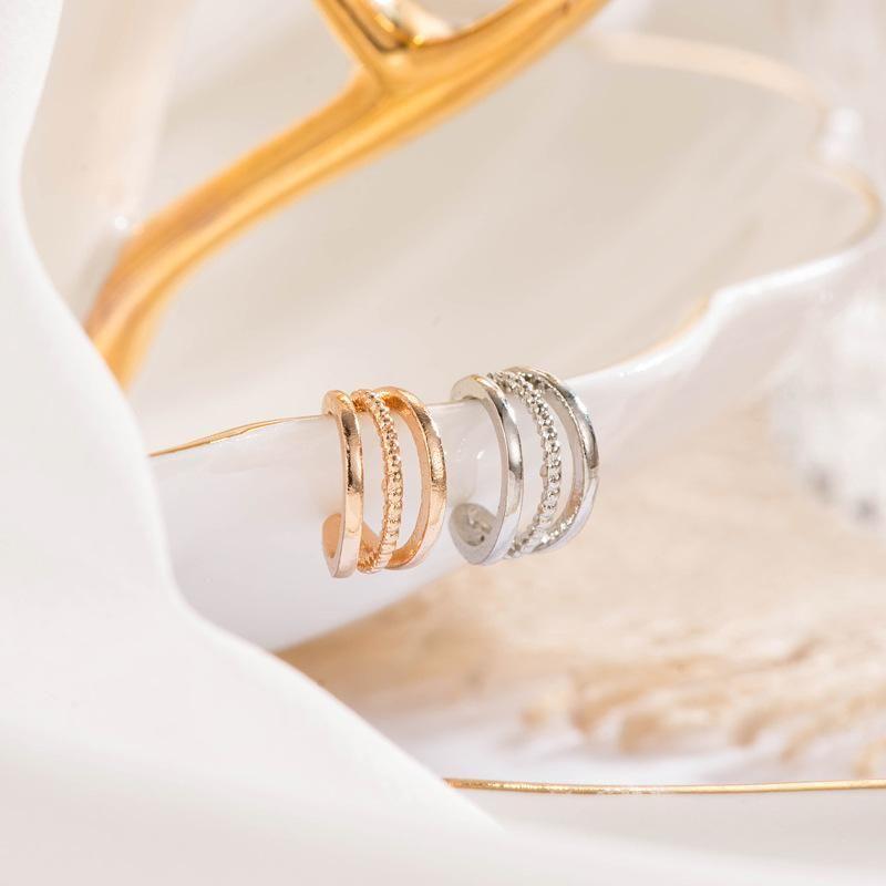New ear cuff rhinestone U-shaped copper clip earrings NHDP148477