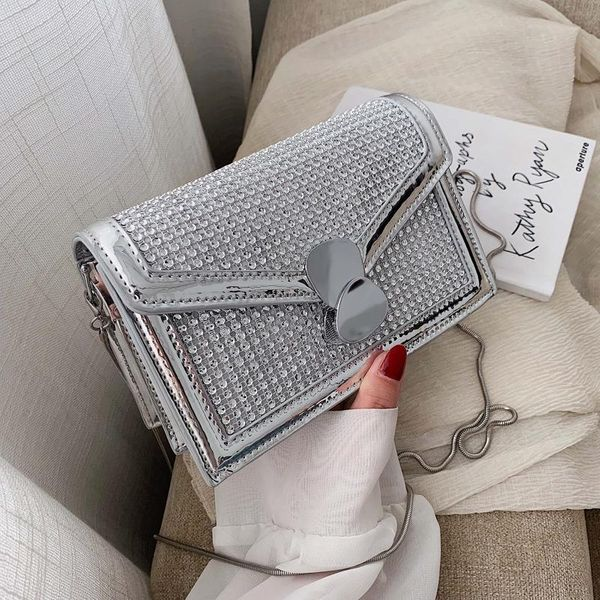 Joker with rhinestone lock chain bag shoulder Messenger bag NHPB148486