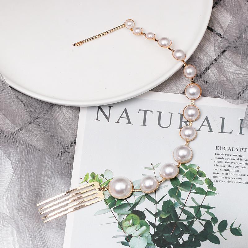 Simple beads BB clip hair clips NHJJ148508