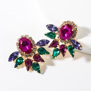 Fashion drop-shaped oval full rhinestone earrings NHJE148535's discount tags