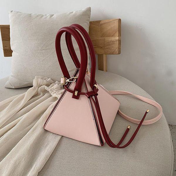 Fashion versatile triangle handcuffs crossbody bag NHPB148589