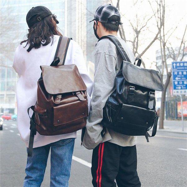 Korean casual PU couple backpack NHXC148630