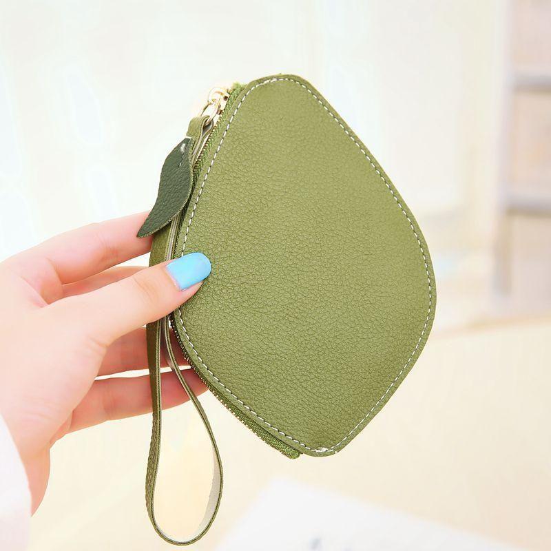 Creative handcuffs zipper short leaf purse NHNI148659