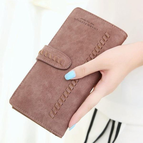 Korean version of the long PU leather matte woven wallet NHNI148678
