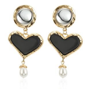 New Alloy Love Pendant Beads Earrings NHPF148722's discount tags