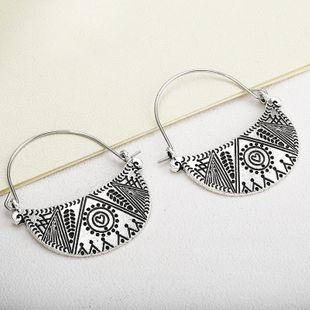 Fashion moon pattern alloy models hoop earrings NHPF148724's discount tags