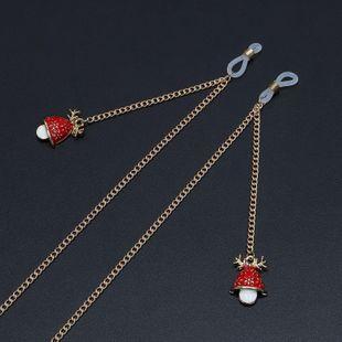 Fashion alloyen christmas hat antler pendant glasses chain NHBC148747's discount tags