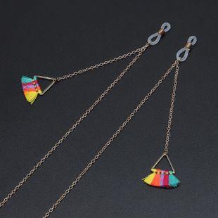 Fashion triangle colorful tassel handmade glasses chain NHBC148749's discount tags