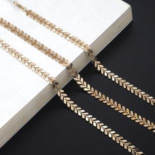 Fashion simple alloy leaves sunglasses chain alloy alloyen NHBC148753's discount tags