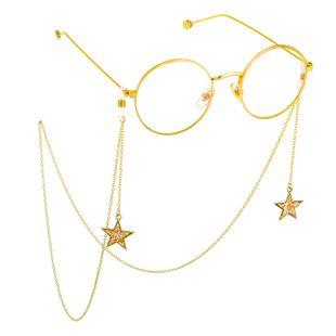 Fashion alloyen five-star pendant glasses chain NHBC148755's discount tags