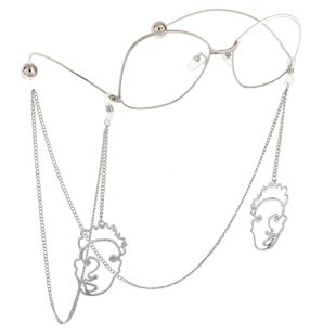 Fashion alloy and alloy mask pendant glasses chain NHBC148756's discount tags