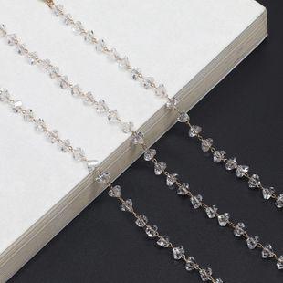 Fashion alloyen triangle imitated crystal chain full handmade glasses chain NHBC148757's discount tags