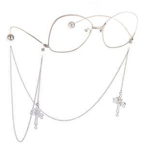 Fashion alloyen cross beads pendant glasses chain NHBC148759's discount tags