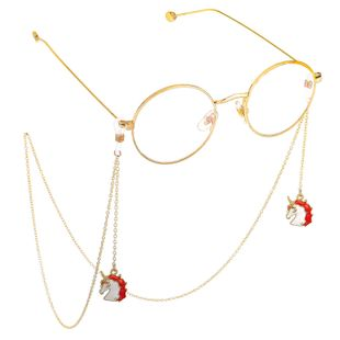 Alloy Unicorn Pendant Eyeglass Chain NHBC148764's discount tags