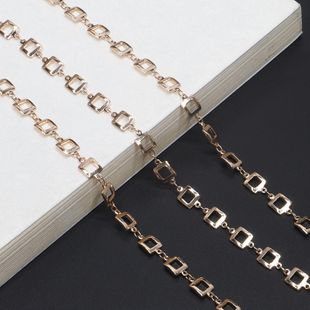 Fashion simple handmade copper square chain glasses chain NHBC148765's discount tags
