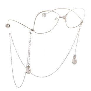 Fashion chain alloy drop rhinestone beads glasses chain NHBC148766's discount tags