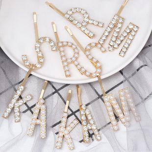 New candy color rhinestone letters hair clips NHJJ148776's discount tags