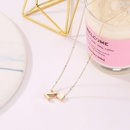 Fashion love 26 English alphabet simple alloy necklace NHDP148728