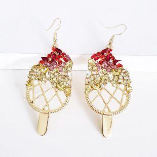 Womens Geometric Rhinestone Alloy Earrings NHJJ139660's discount tags