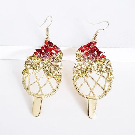 Womens Geometric Rhinestone Alloy Earrings NHJJ139660's discount tags