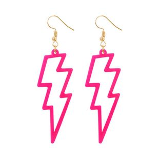 Fashion fluorescent resin lightning earrings NHMD139675's discount tags