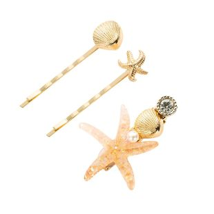 Korean version of the three-piece starfish hair accessories NHYT139706's discount tags