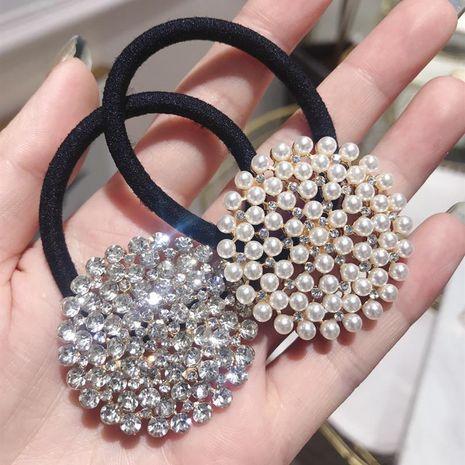 Version coréenne de l'anneau de cheveux super élastique en strass super flash complet NHSM139760's discount tags