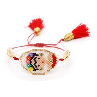 Trendy simple rice beads woven tassel bracelet NHGW139796's discount tags