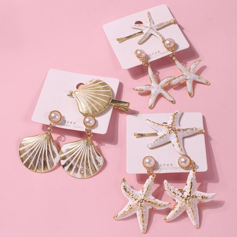 Ocean series holiday wind starfish hair accessories NHMD139813's discount tags