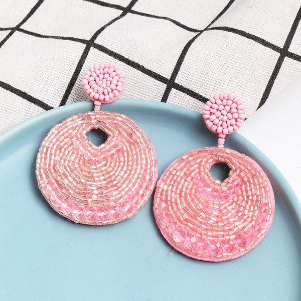 Fashion geometric imitated crystal rice beads national wind earrings NHJJ139827