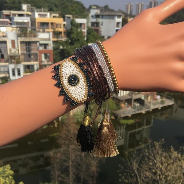 Fashion rice beads hand-woven bracelet NHGW139862