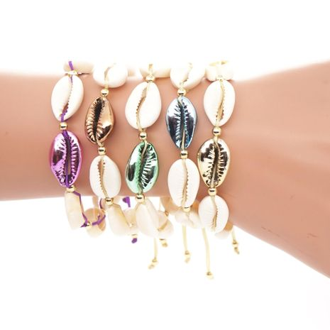 Womens Alloy Shells Bracelets & Bangles NHGW139864's discount tags
