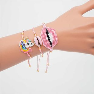 Fashion rice beads woven female bracelet NHGW139866's discount tags