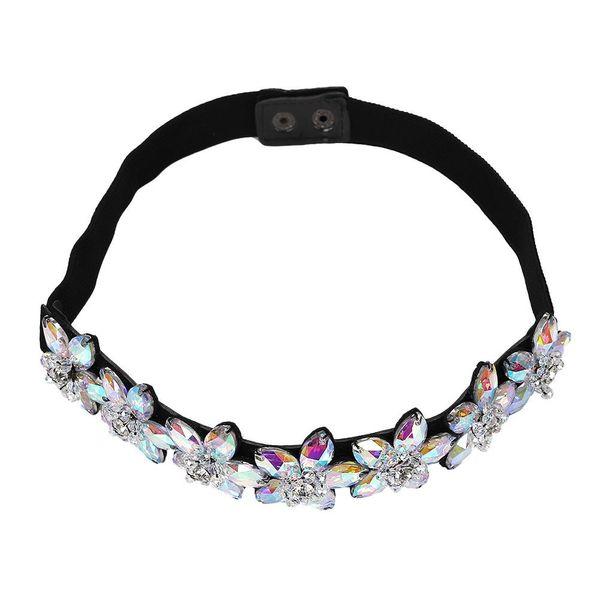 Joker elastic buckled rhinestone headband necklace NHJQ139876