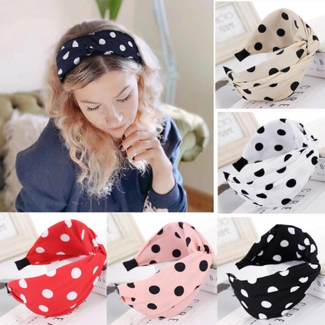 New cloth dot wide headband NHHV139916's discount tags