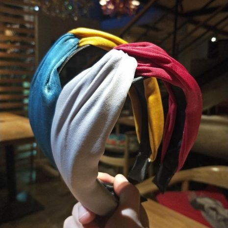 New stitching cloth wide headband NHOF139927's discount tags