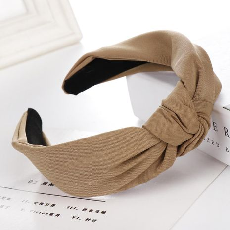 New solid color cross cloth wide headband NHHV139939's discount tags