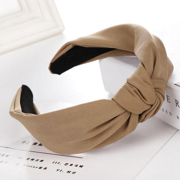 New solid color cross cloth wide headband NHHV139939