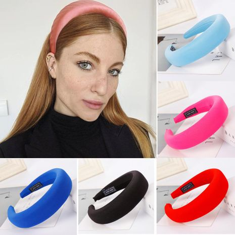 Fashion solid color sponge ring headband multicolor NHHV139967's discount tags