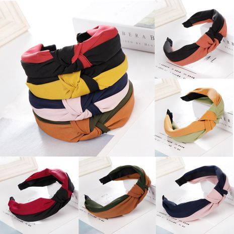 Fashion stitching wide headband multicolor NHHV139972's discount tags