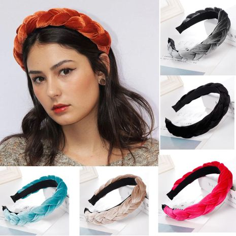 Fashion flannel tweezers wide-brimmed headband multicolor NHHV139977's discount tags