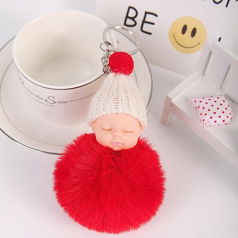 Cute sleeping doll key chain bag chain multicolored NHHV139989's discount tags