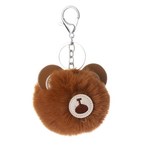 Cute little bear ball key chain bag chain multicolored NHHV139993's discount tags