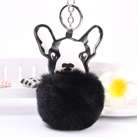 Cartoon puppy hair ball key chain bag chain multicolored NHHV140000's discount tags