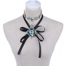 Womens Crown Set with Gemstones Necklaces NHYT139794