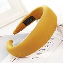 New solid color alloy velvet sponge wide headband NHHV139934